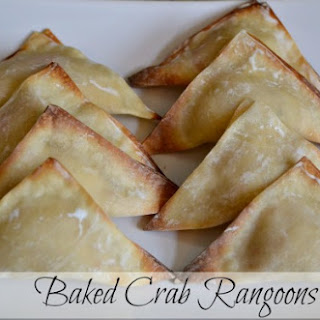 Easy Baked Crab Rangoons.