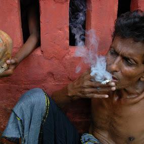 Smoking Kills by Debashis Mukherjee - People Portraits of Men (  )