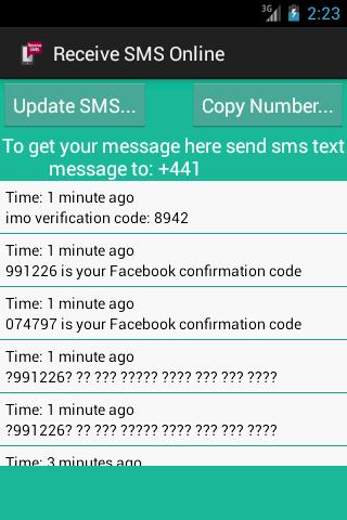 online sms receive apk