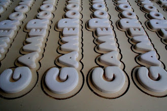 Photo: carved 3D hand painted sign 3d letters www.nicecarvings.com