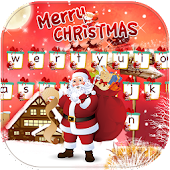 Frohe Weihnachten Keyboard Thema Merry Christmas