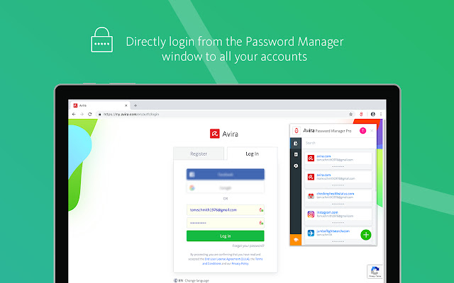 Avira Password Manager Internal