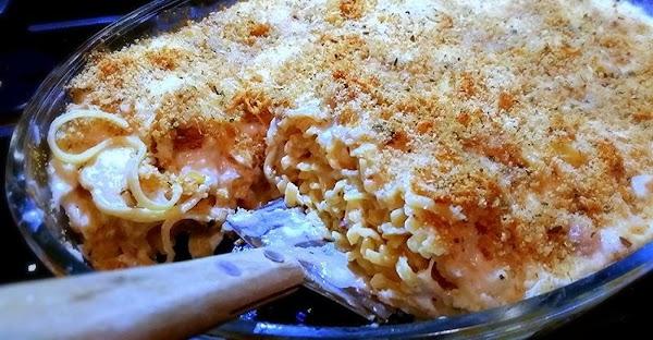~ Creamed Prosciutto Linguine Bake ~ Recipe