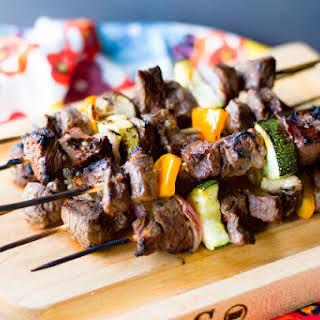 Easy Grilled Steak Kebab.