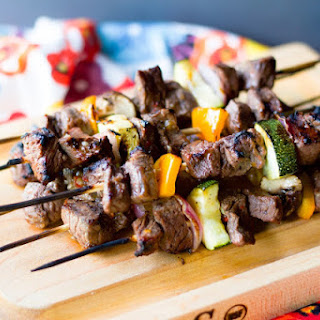 Easy Grilled Steak Kebab.