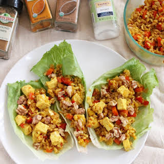 Tofu and Rice Lettuce Wraps.