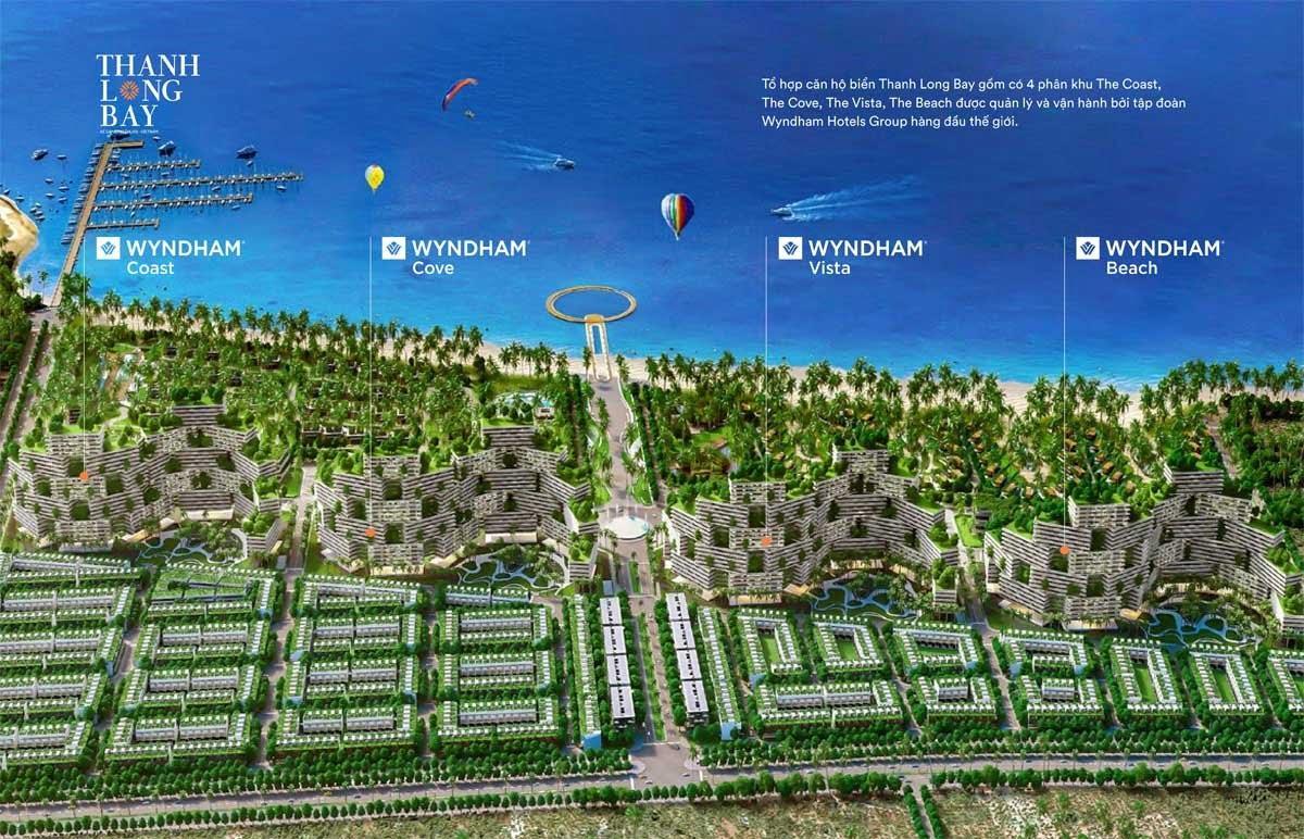 4 Phân khu Tổ hợp căn hộ biển Thanh Long Bay