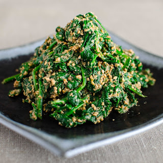Spinach With Sesame Dressing (horenso No Goma-ae).