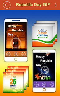 Republic Day GIF 2018 - 26 January GIF Wishes, SMS - náhled