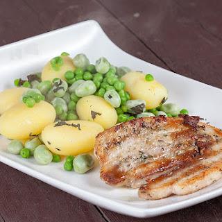 Pork Belly Slices And Broad Bean Potato Salad.