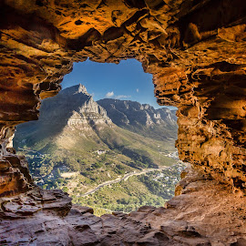 Wally's Cave by David Long - Landscapes Caves & Formations ( lion's head, wally's cave, cape town )