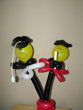 Photo: small Smileys on sticks (can be used as a gift or centerpiece)