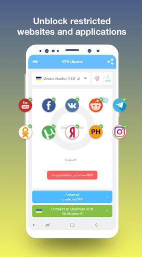 VPN Ukraine - Get Ukrainian IP or unblock sites 1.19 screenshots 2