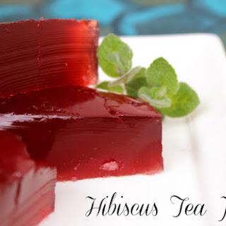 Hibiscus Tea Jello.