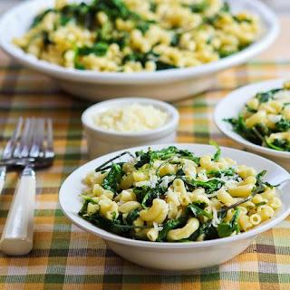 Macaroni with Greens, Lemon, and Parmesan