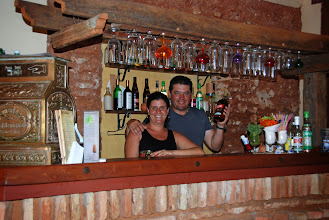 Photo: Lea and Yosbany who run 24 hour bar restaurante Salon 1851, right next door to Palenke.