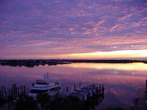 Photo: Sunrise view of Beaufort NC from Radio Island