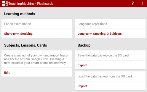 TeachingMachine - Flashcards- screenshot thumbnail