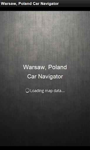 GPS Navigation Warsaw Poland