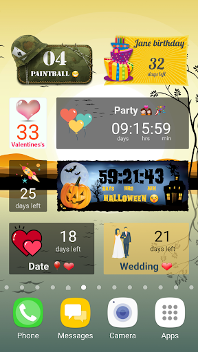 Countdown Widget screenshot 2