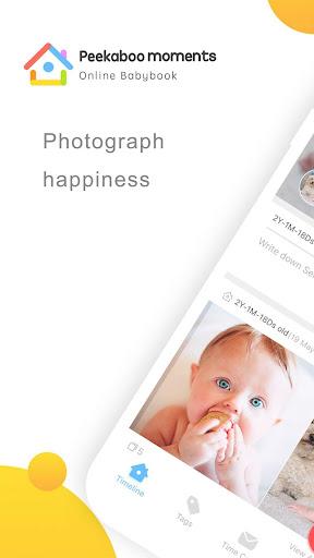 Peekaboo Moments u2013 Babybook, memories & moments 5.3.3 screenshots 1