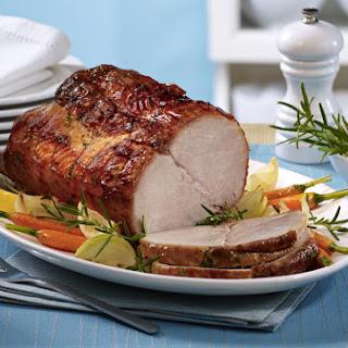 Rosemary-Garlic Spice Rubbed Boneless Pork Roast.
