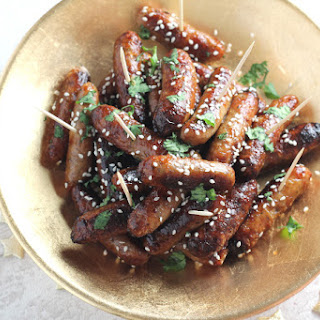 Sticky Asian Cocktail Sausages.