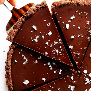 The Most Amazing Salted Dark Chocolate Tart.