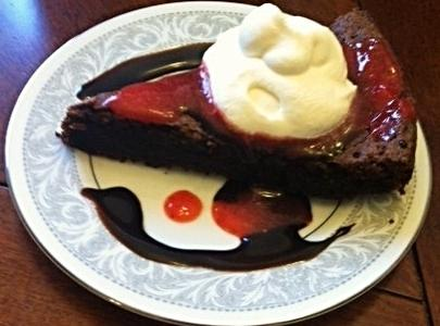 Strawberry Glazed Chocolate Fudge Torte Recipe