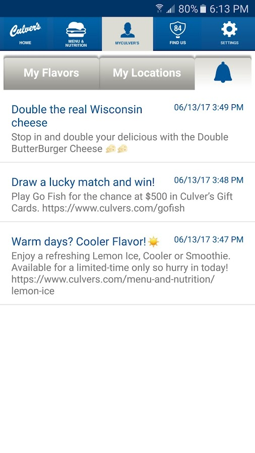 Culver's- screenshot