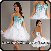 Sexy Short White Evening Dres