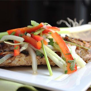 Asian Grilled Grouper with Bell Pepper Slaw