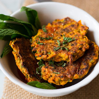 4 Ingredient Healthy Carrot Fritters.