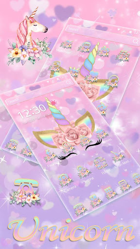 Theme Flower Unicorn Dream Apk 2