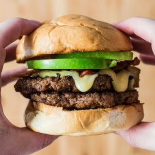 Apple, Bacon and Brie Burger.