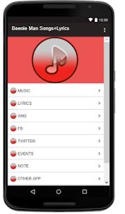 Beenie Man Songs+Lyrics - náhled
