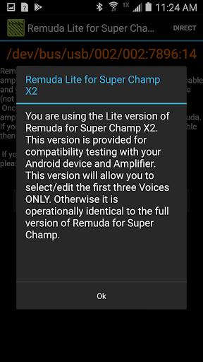 Remuda/SC Lite - USB Guitar Amplifier Control App 1.2.0-lite screenshots 1