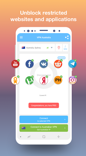 VPN Australia - get free Australian IP 1.18 screenshots 2