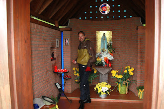 Photo: Day 32 -  Lighting Candles in the Chapel Just Outside Jestetten #2