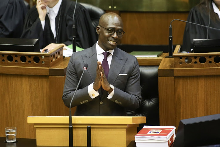 Finance Minister Malusi Gigaba delivering the 2018 budget speech in Parliament on February 21 2018.