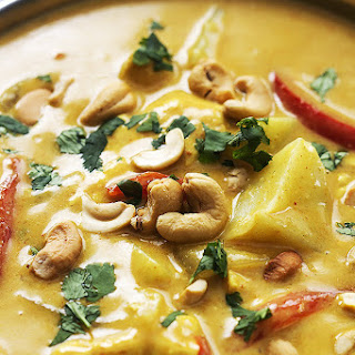 Slow Cooker Coconut Curry Cashew Chicken.
