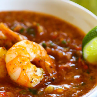 Summer Gazpacho with Shrimp Recipe