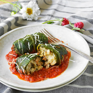 Italian Stuffed Collard Greens