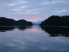 Photo: View across Rivers Inlet from Duncanby Marina.
