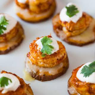 Cheesy Chipotle Shrimp Sweet Potato Coins.