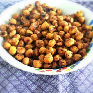 Garlic Basil Roasted Chickpeas.