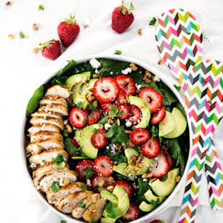 Simple Strawberry Spinach Salad.