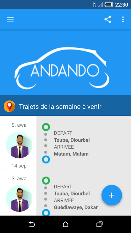 Andando- screenshot
