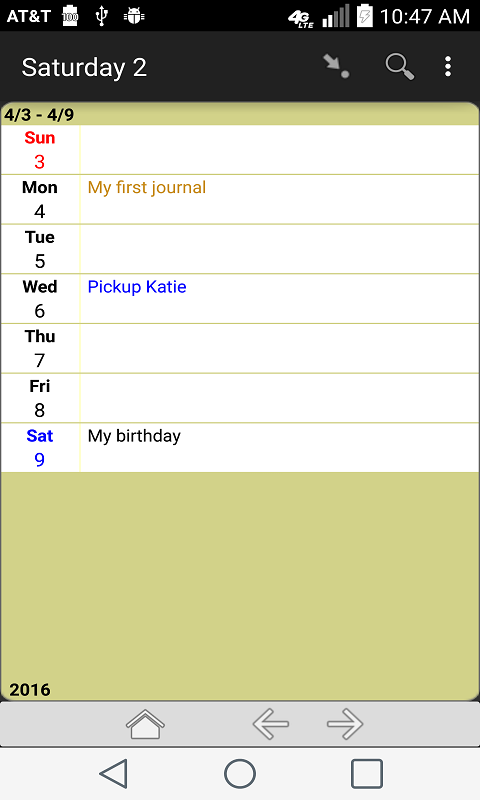Memo Journal- screenshot