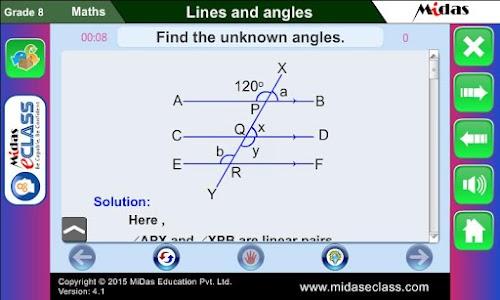 MiDas eCLASS Maths 8 Demo screenshot 7